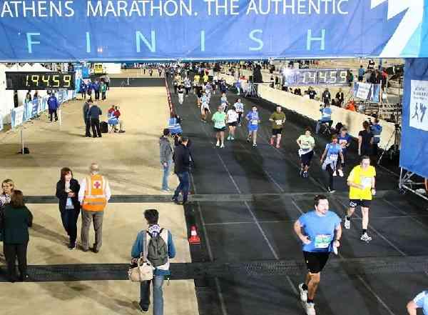 Dr. Harald Hildebrandt Einlauf Marathonstadion Athen 2019