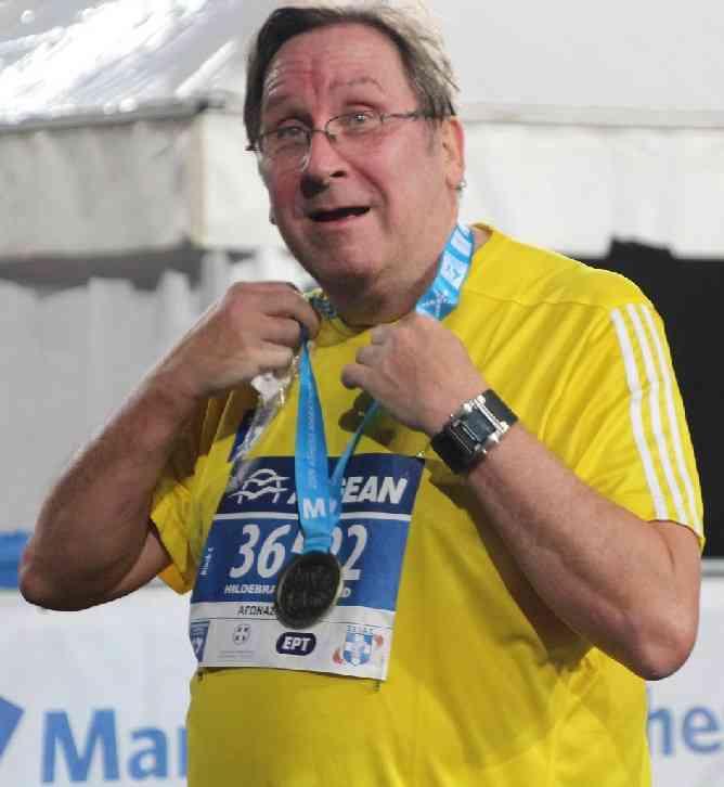 Dr. Harald Hildebrandt Medaille Marathonstadion Athen 2019