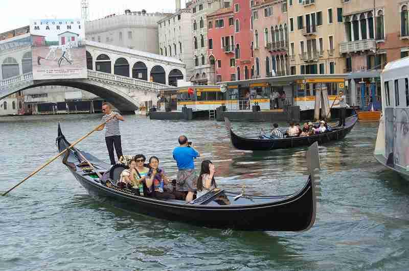 Canal Grande in Venedig (Juli 2015)
