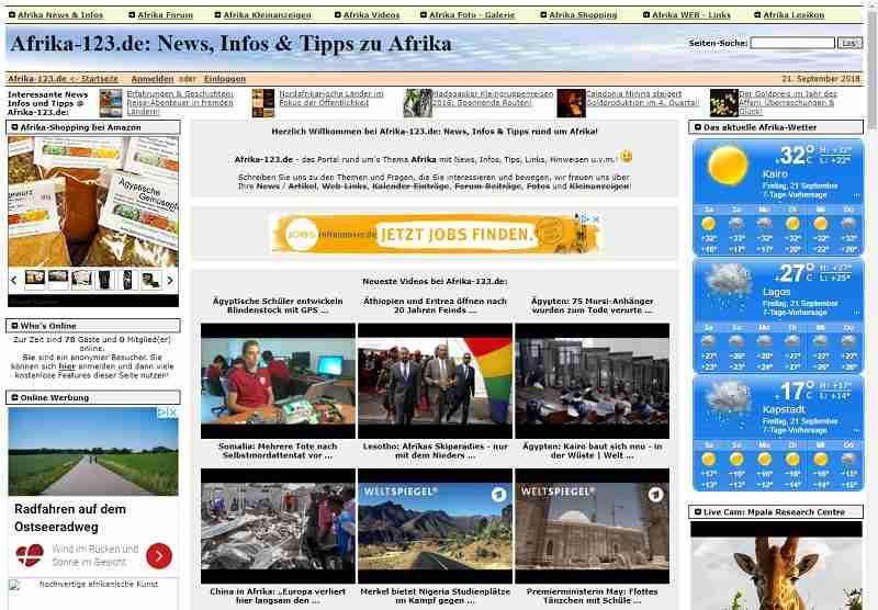 Afrika-123.de - News, Infos & Tipps zu Afrika