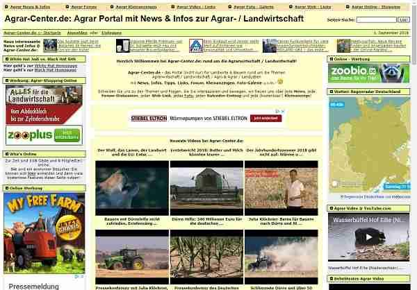 Agrar Portal mit News & Infos zur Agrar- / Landwirtschaft