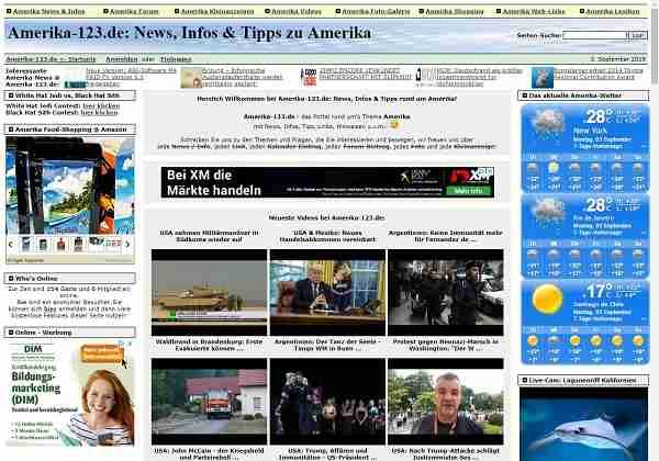 Amerika-123.de - News, Infos & Tipps rund um Amerika