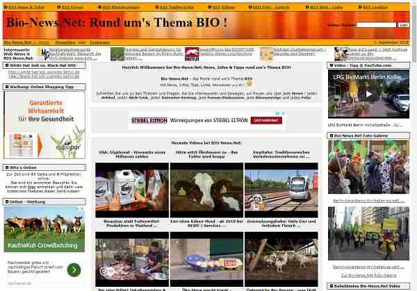Bio-News.Net: News, Infos & Tipps rund um das Thema BIO!