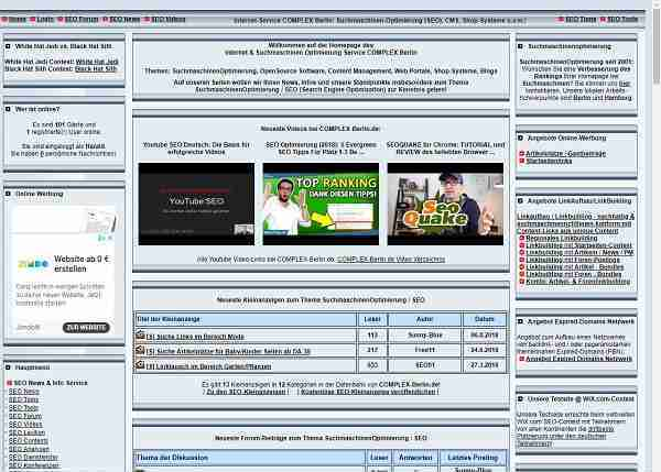 Complex-Berlin.de - News, Infos & Tipps zur Suchmaschinenoptimierung (zum SEO)