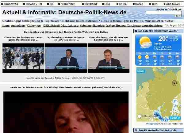 Deutsche-Politik-News.de - Schlagzeilen & Top-News - nicht nur im Mainstream / Infos & Meinungen zu Politik, Wirtschaft & Kultur!