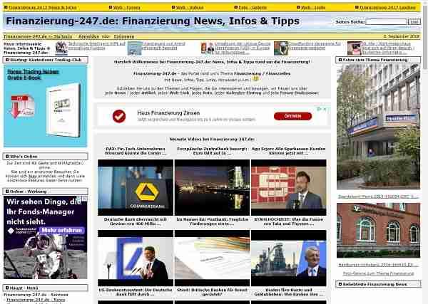 Finanzierung-24/7.de - Portal rund um's Thema Finanzierung / Finanzielles