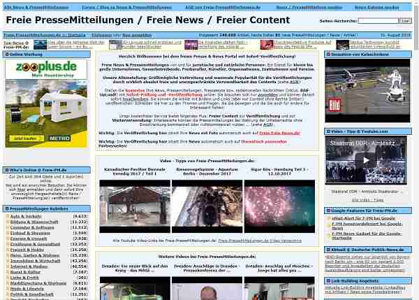 Freie-Pressemitteilungen.de - Freie PresseMitteilungen / Freie News / Freier Content