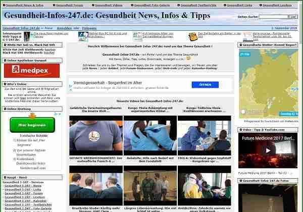 Gesundheit-Infos-24/7.de - Portal rund um das Thema Gesundheit