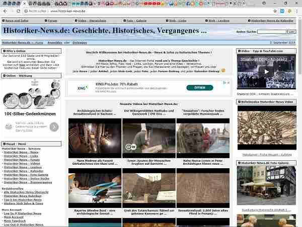Historiker-News.de - News & Infos zu historischen Themen
