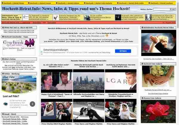 Hochzeit-Heirat.Info - News, Infos & Tipps rund um Hochzeit & Heirat