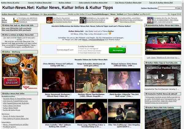 Kultur-News.net - das Portal rund um's Thema Kultur