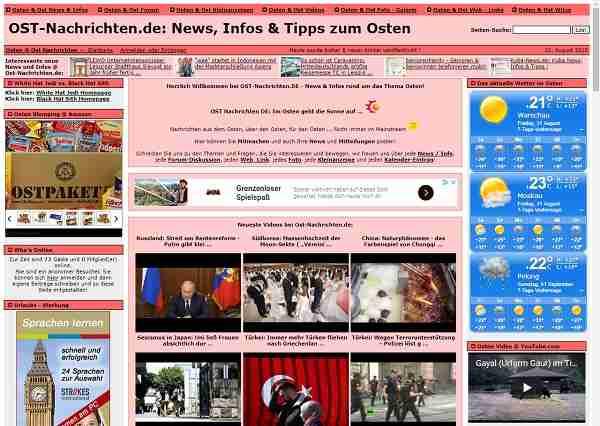 Ost-Nachrichten.de - Nachrichten aus dem Osten, über den Osten, für den Osten