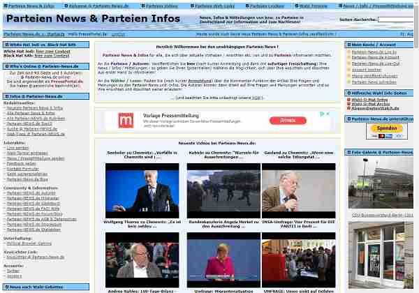 Parteien-News.de - News & Infos zu & von politischen Parteien