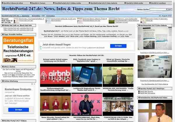 RechtsPortal-24/7.de - rund um das Thema Recht mit News, Infos u.v.m.