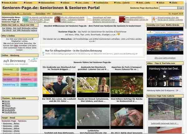Senioren-Page.de - Portal von SeniorInnen für Senioren & Seniorinnen