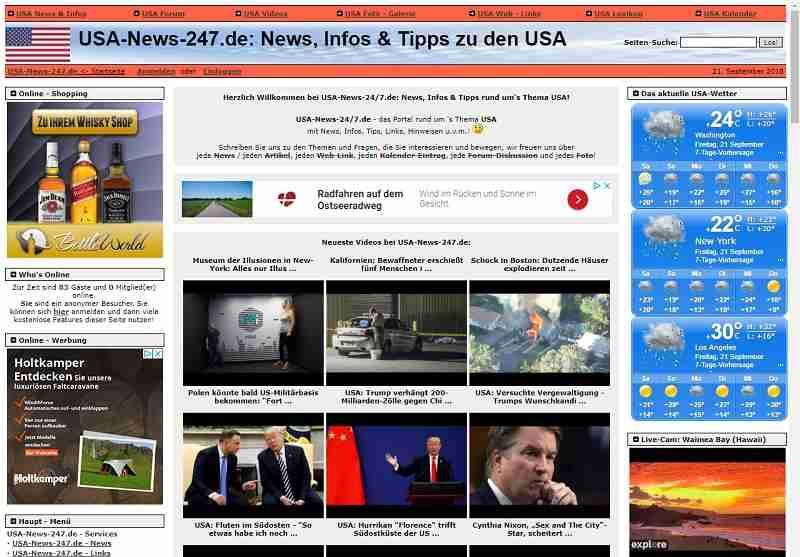 USA-24/7.de - News, Infos & Tipps zu den USA